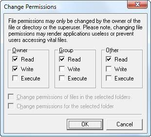 File Permissions before changes