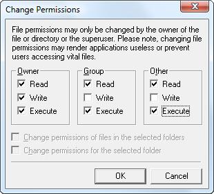 File Permissions after changes